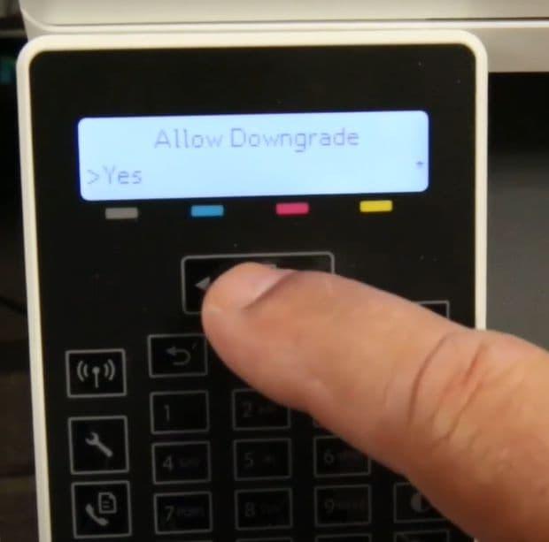 actualizar firmware de impresora hp4